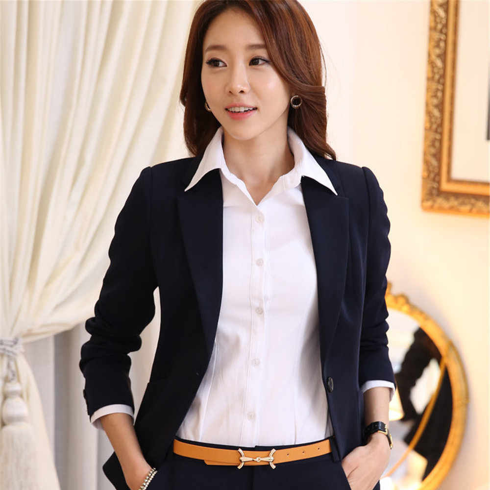 29f7ada27e1d2 Formal Women Business Suits with Pant/Dress+Blazer New 2019 autumn Winter  Fashion Plus size 5XL Ladies set Work Office Uniforms