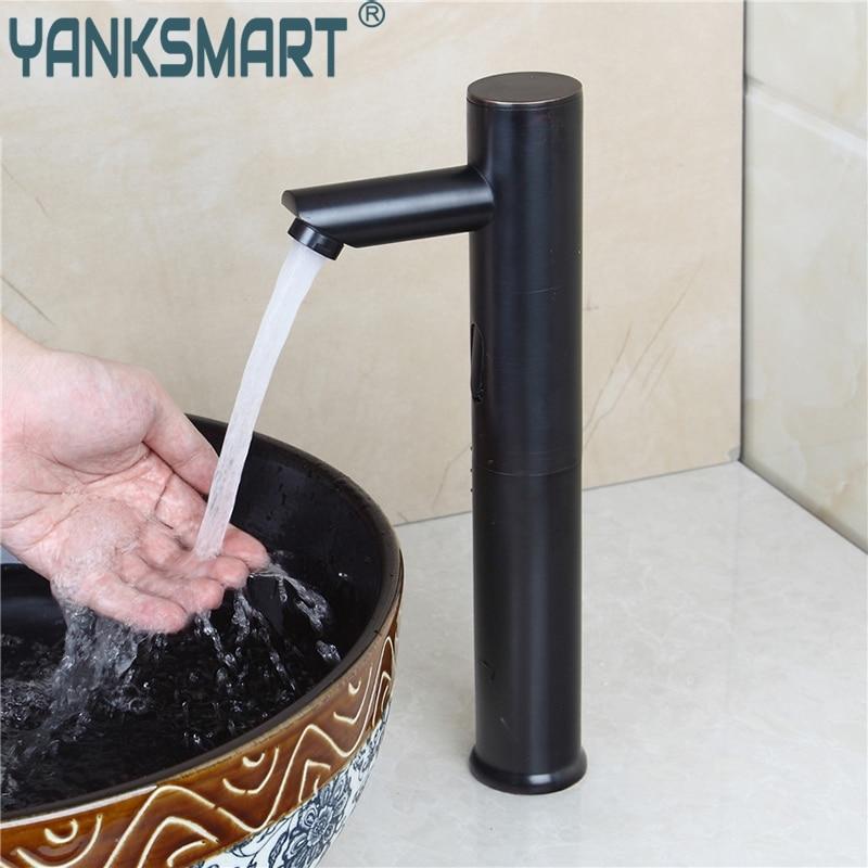 Bathroom Faucet Sense Black Basin Faucet Sensor Tap Lavatory Bathroom Sink Bath Combine Brass Faucets Mixer TAP