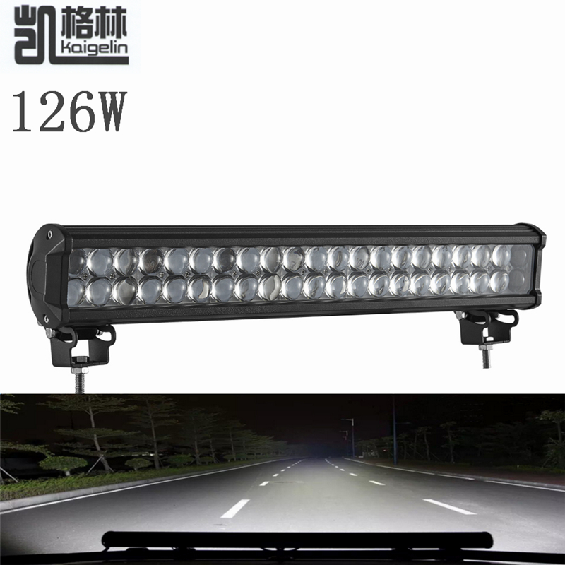 10PCS Upgrade 4D 126W LED Work Light Bar Spot Flood Combo Beam 12-24v For Tractor Boat Offroad 4WD 4x4 Truck SUV ATV Car-styling tripcraft 12000lm car light 120w led work light bar for tractor boat offroad 4wd 4x4 truck suv atv spot flood combo beam 12v 24v