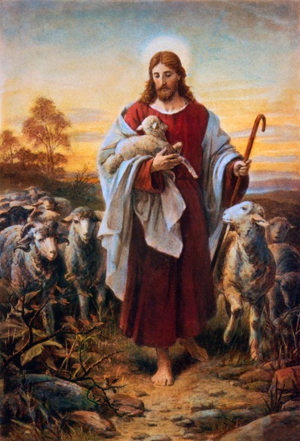 Image result for christ the good shepherd painting