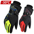 Antiskid Wear Resistant riding Ski Gloves  Mountain Skiing Snowmobile Waterproof Snow Motorcycle Gloves Windproof Guanti moto