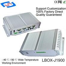 Высокое качество безвентиляторный промышленный компьютер Поддержка Беспроводной 3g и Wi-Fi модем промышленный компьютер Mini Box PC