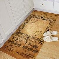 Game of monopoly pattern floor sticker Kitchen Study Room waterproof non slip wear resistant floor stickers Home decoration
