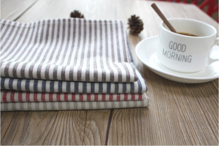 6pcs/lot 30X45cm 100% Cotton Yarn Dyed Dishtowel Kitchen Towel Dish Towel Cleaning Cloth Tea Towel Ultra durable pano de prato