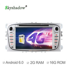 C500 4G SIM LTE Android 6.0 2GB RAM Car DVD Player bluetooth RDS Radio GPS wifi For FORD Mondeo S-MAX Connect FOCUS 2 2008-2011