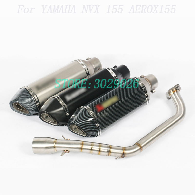 NVX155 Motorcycle Exhaust Slip-On Full System Modified Front Tube Middle Link Pipe Muffler DB Killer For YAMAHA NVX 155 AEROX155NVX155 Motorcycle Exhaust Slip-On Full System Modified Front Tube Middle Link Pipe Muffler DB Killer For YAMAHA NVX 155 AEROX155