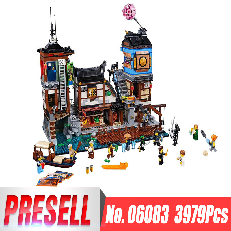 Lepin 06083 3979Pcs Building Series Legoing 70657 City Docks Set Building Blocks Bricks New Kids Toys Collectible Toys Gift lepin 16001 4705pcs city street series ghostbusters firehouse headquarters building block bricks kids toys for gift 75827