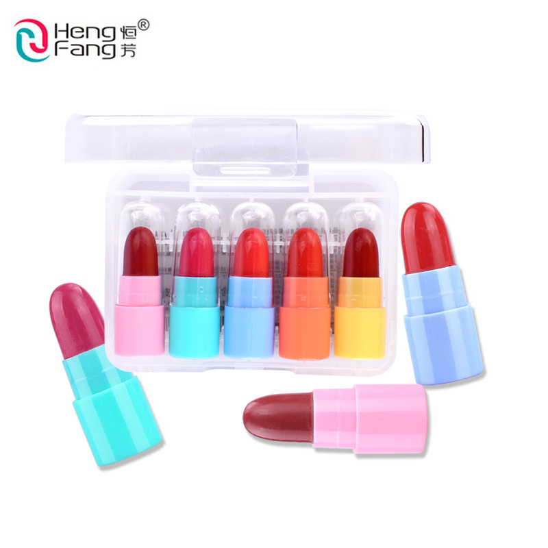 Objective 5pcs/set Lipstick Waterproof Glide Batom Moisture Protective Lip Stick Cosmetics 12 Colors Makeup Tool Beauty Essentials