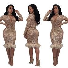 SexeMara, Новые Вечерние платья с длинным рукавом и v-образным вырезом, блестящее облегающее платье с блестками, платье для рождественской вечеринки, Vestido