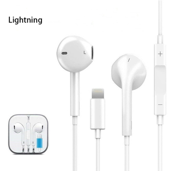 for Apple iPhone 7 8 Plus X Lightning Earphone with Mic Stereo Bluetooth for iPhone 8 7 Plus X XS Max XR 10 iPod Wired Headphone
