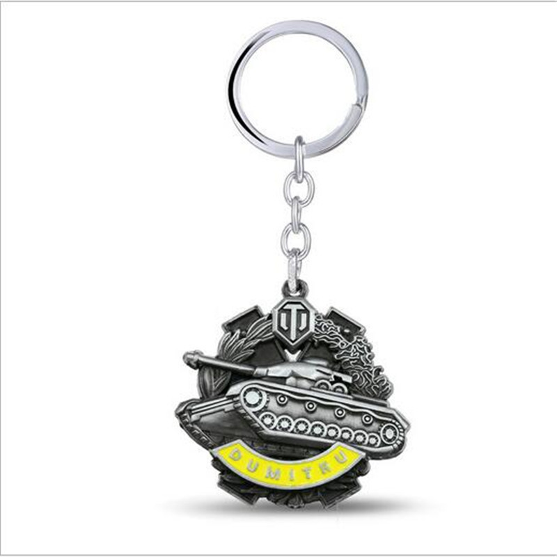 GWTS Games World Of Tanks Alloy Keychians Zinc Alloy Key chains Key Holders Men Jewelry Car Figure Chaveiro GWTS10904