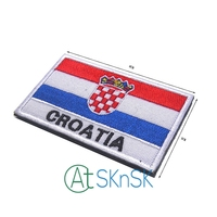 50pcs/set Embroidery Badge Croatian National Flag Of Croatia Military Embroidered Badges Patches Backpack Army Military Patch