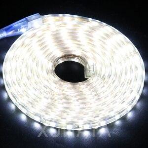 Image 5 - RGB HA CONDOTTO LA Luce di Striscia AC 220V SMD 5050 Flessibile Impermeabile del Nastro del LED 60LEDs/m Nastro per il Giardino 1M/2M/3M/4M/5M/6M/7M/8M/10M/15M/20M