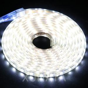 Image 5 - RGB LED Strip Light AC 220V SMD 5050 Flexible Waterproof LED Tape 60LEDs/m Ribbon for Garden 1M/2M/3M/4M/5M/6M/7M/8M/10M/15M/20M