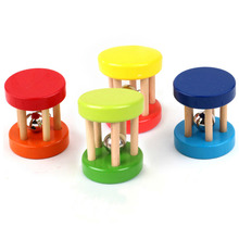 Baby Rattles Funny Wooden Toy Kid Children Intellectual Developmental Educational Toys Spiral Rattles for Baby Toys