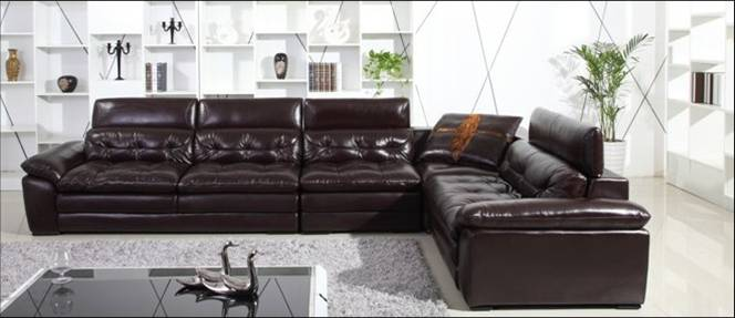 free shipping luxury italian top grain leather filled with feather downlarge l shaped grand sofa high back home furniture