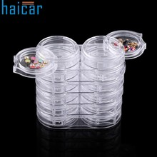 Best Deal 12pc/Set Storage Bottle Plastic Empty Box Case For Nail Art Rhinestone Bead Gems#30 1103(China)