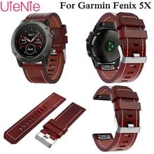 Luxury leather wrist Watch Strap quick Link Bracelet Belt 26MM For Garmin Fenix 3/Fenix 5XGPS Smart band wristband