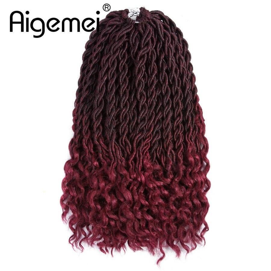 Aigemei 18 дюймов 70 г синтетические наращивание волос вязание крючком плетение волос богиня лок  Лучший!