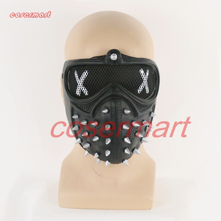 Game Cosplay Mask Watch Dogs 2 Mask Marcus Holloway Mask Casual Tangerine Mask Halloween Party Prop (3)