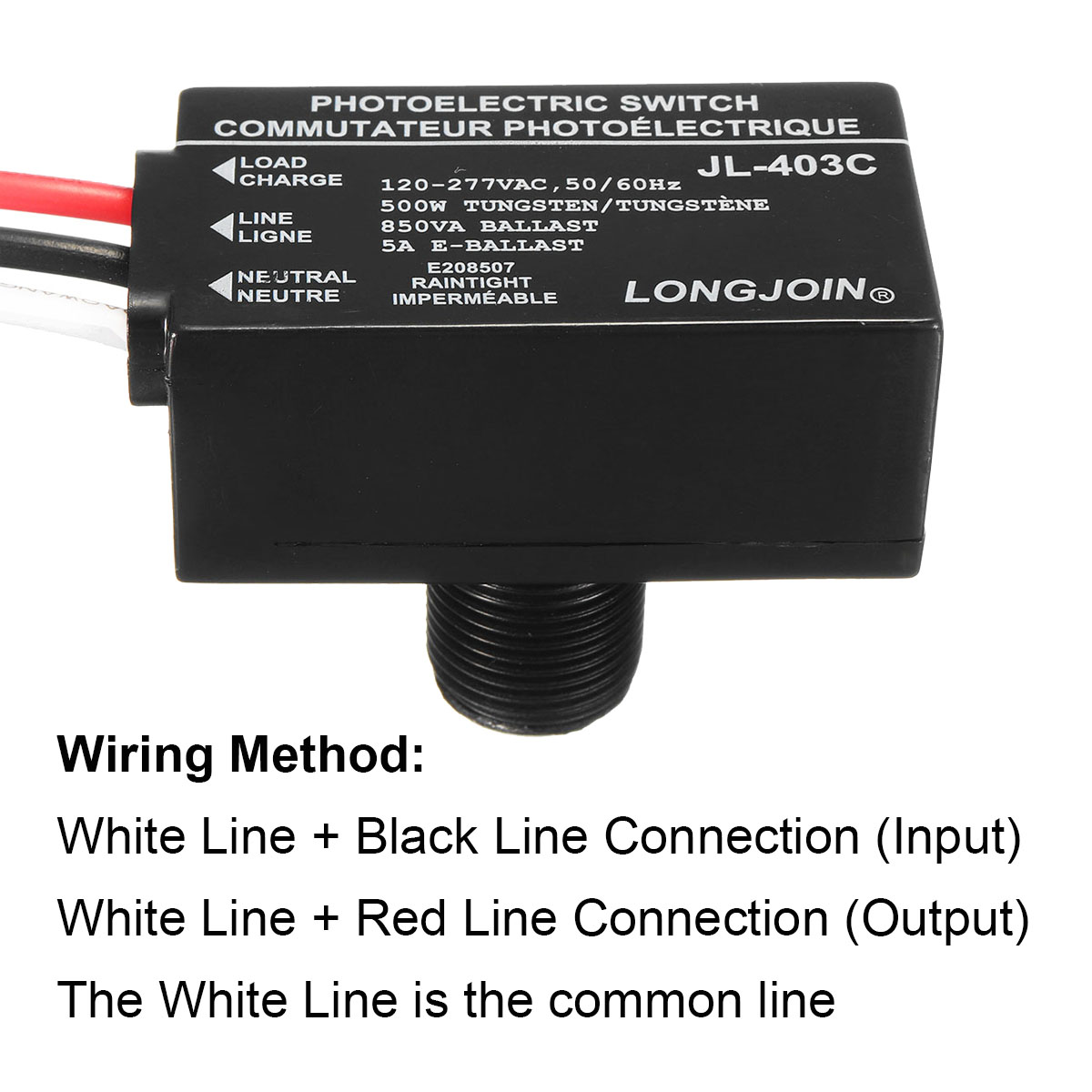 Photoelectric Switch Wiring Diagram With Ballast  utilitech alr fixed base photocell at lowes