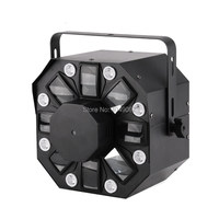 Новый 3 в 1 лазерная/Стробоскоп/вращающийся Дерби эффект освещения сцены Moonflower RG Лазерный свет 8 светодио дный мерцающий для dj диско бар обор