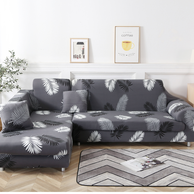 Corner Sofa Covers For Living Room  Slipcovers Elastic Stretch Sectional Sofa Cubre Sofa ,L Shape Need To Buy 2 Pieces