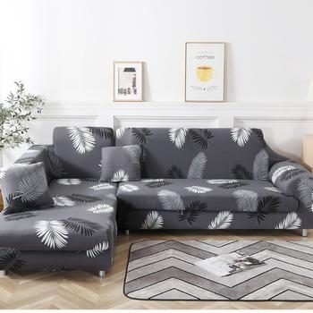 Narożne pokrowce na kanapę do salonu pokrowce elastyczne stretch narożnik cubre sofa kształt L trzeba kupić 2 sztuki tanie i dobre opinie S-EMIGA Rozkładana okładka Drukowane Nowoczesne Floral Sofa przekroju 100 poliester