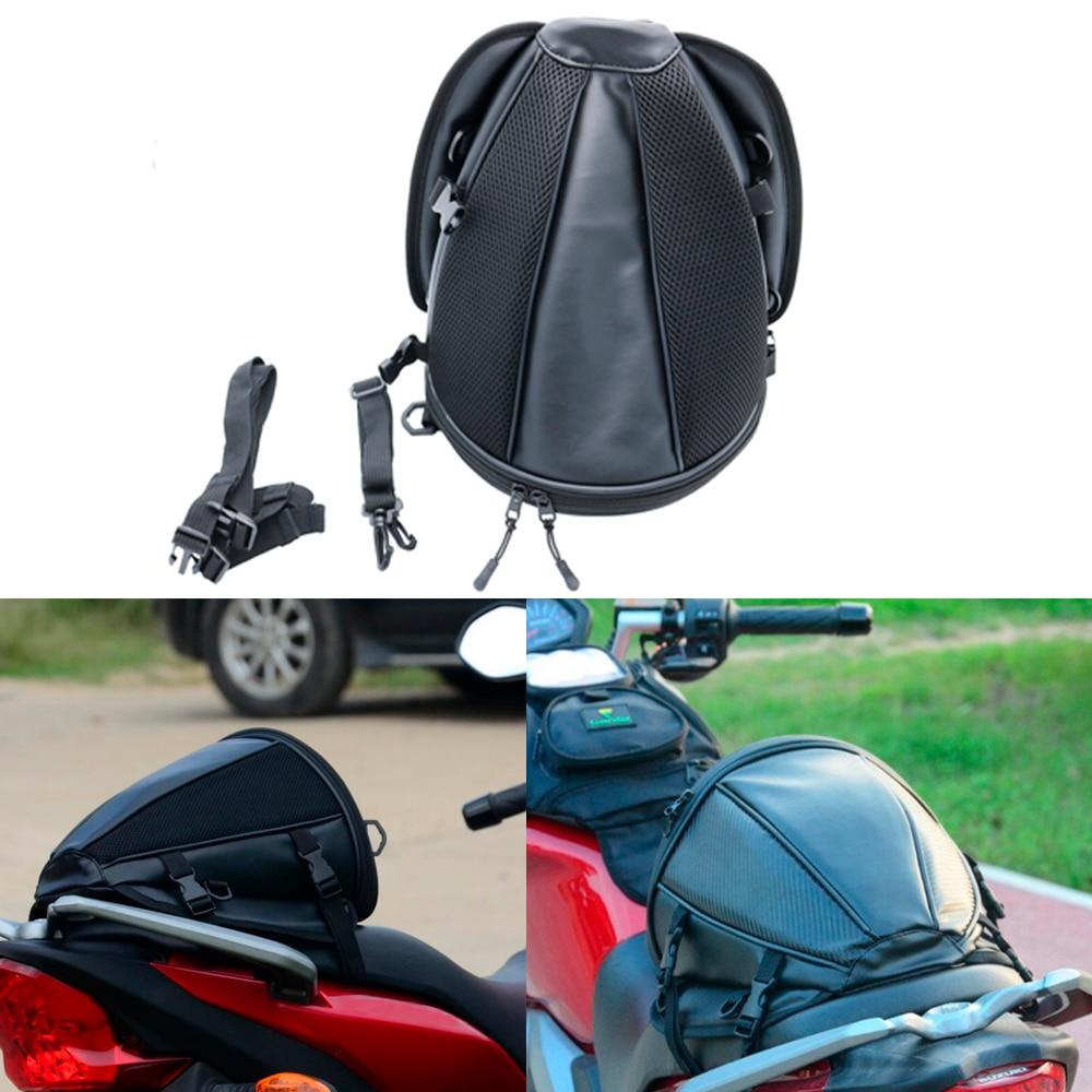 ad06fa2b65a5 US $10.93 10% OFF|New Motorcycle Saddlebag Tail Bag Rear Back Seat Sports  Carry Bag Waterproof Motorbike Bike Luggage Saddle Bag Black on ...
