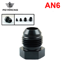 PQY - AN6-6 Black Aluminum AN Hex Head Male Flare Plug PQY-SL806-06-021