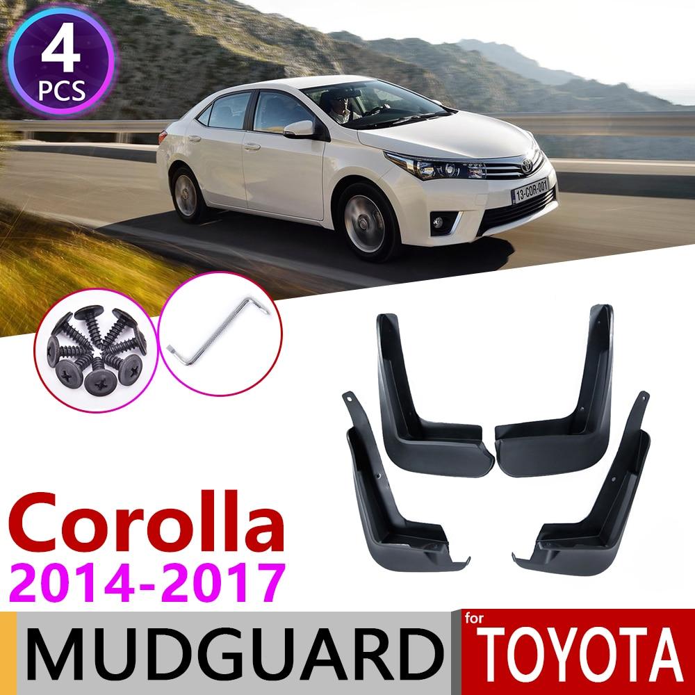 for Toyota Corolla Altis E170 2014 2015 2016 2017 Front Rear Mudflap Fender Mudguard Mud Flaps Guard Splash Flap Car Accessories