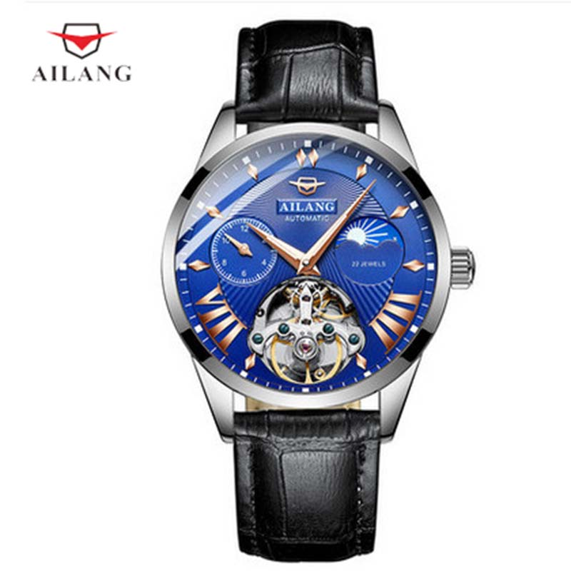 цена на AILANG Men Watches Real Leather Mechanical Wristwatches Luminous 30M Water Resistant Diver Watch Military Clock A190