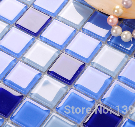 Cheap swimming pool mosaic tiles Blue puzzle,Crystal Glass mosaic Bathroom wall floor backsplash Decor,FREE SHIPPING!! LSNSJ07 home improvement marble stone mosaic tiles natural jade style kitchen backsplash art wall floor decor free shipping lsmb101