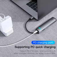Baseus USB C HUB USB to Multi HDMI-compatible USB 3.0 RJ45 Carder Reader OTG Adapter USB Splitter for MacBook Pro Air HUB Dock