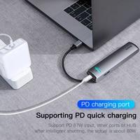 Baseus USB C HUB USB to Multi HDMI-compatible USB 3.0 RJ45 Carder Reader OTG Adapter USB Splitter for MacBook Pro Air HUB Dock