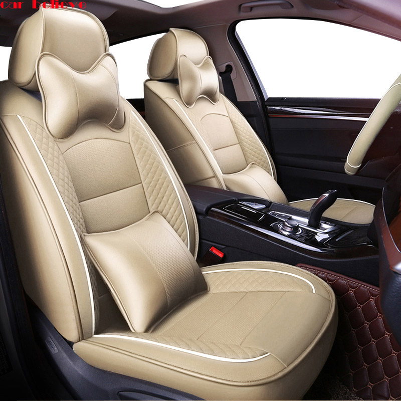 Car Believe Auto automobiles car seat cover For Mitsubishi Lancer 10 Outlander 2017 Pajero Eclipse asx covers for vehicle seat