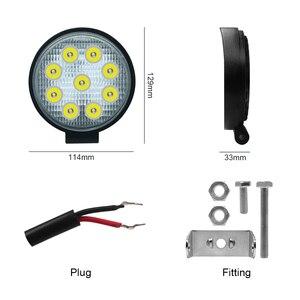 Image 2 - Barra de luces LED de trabajo para Jeep, ATV, UAZ, SUV, 4WD, 4x4, camión, Tractor, todoterreno, 27W, 42W, 48W, haz de Luz brillante, 12v, 24v