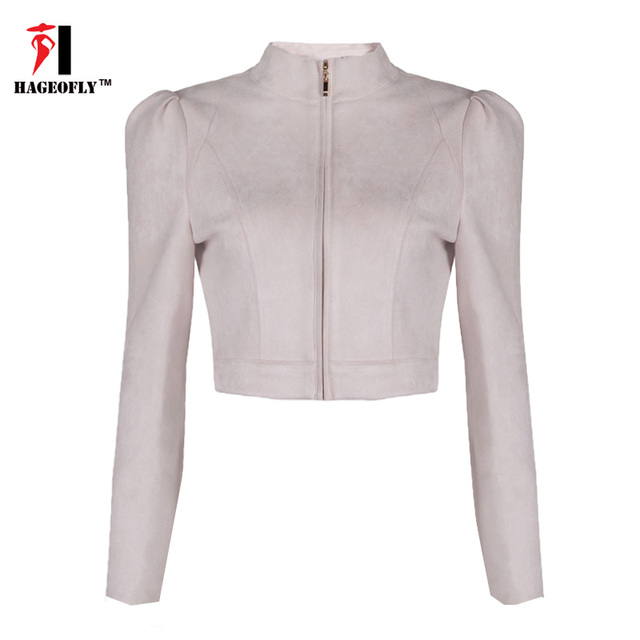 Сексуальная Выдалбливают Короткие Куртки Женщин Полный Рукав Крест Топы розовый XS-L Пальто Сексуальная Спинки Молния Куртка Для Женщин клубная одежда