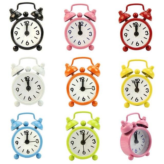 Nuevo reloj despertador portátil lindo número de marcación reloj ...