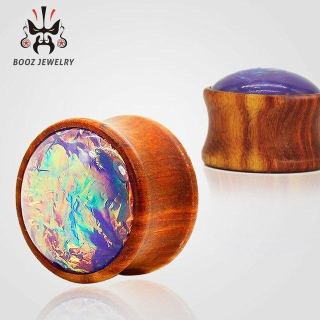 Kubooz новый цветной деревянный драгоценный камень калибры для