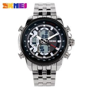 Image 1 - SKMEI gorące męskie zegarki Top marka sport Casual wodoodporny zegarek męski zegarek kwarcowy ze stali nierdzewnej mężczyzna zegarek na rękę Relogio Masculino