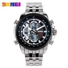 Skmei relógio masculino, relógios masculinos de marca superior, esportivo, casual, impermeável, relógio de quartzo, relógio de pulso de aço inoxidável, relógio masculino