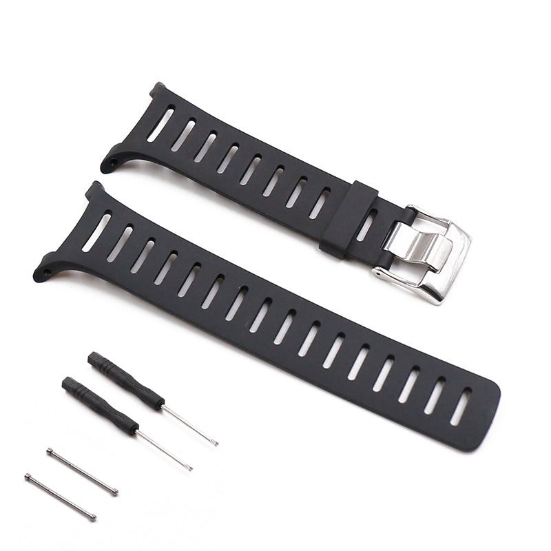 Watch accessories pin buckle rubber strap men suitable for SUUNTO T1 T1C T3 T3C T3D T4C T4D series silicone strap waterproof