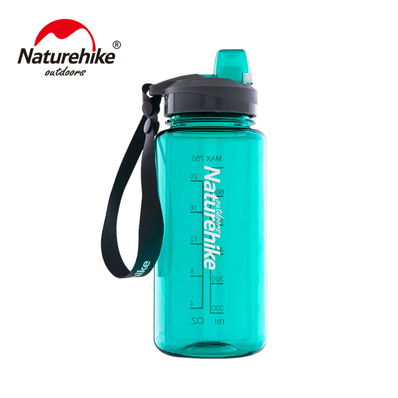 лучшая цена NatureHike 1000ml/750ml Sports Water Bottle Plastic Outdoor Bicycle Bottle Sport Water bottle NH17S010-B