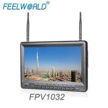 Feelworld FPV1032 10.1 IPS 1024x600 HD Screen FPV Monitor with Built-in Battery Dual 5.8G 32CH Diversity Receiver
