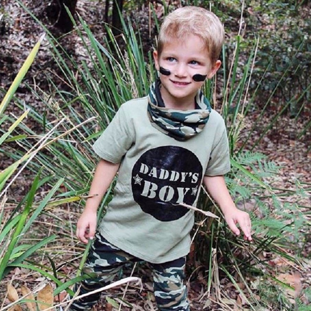 2PCS Newborn Toddler Baby Boy Girl Camo T-shirt Tops Pants Outfits Set Clothes Casual Short Sleeve Kids Clothing Sets 0-24M