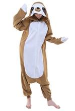 Men Women Cute Anime Sloth Jumpsuits Pajamas Animal Cosplay Costume Unisex Adult Sleepwear Cosplay Costumes