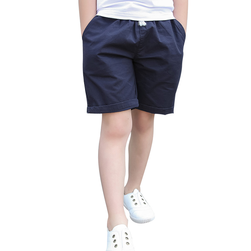 2018 summer chidren's clothes boys   shorts   solid thin cotton baby boy beach   shorts   for kids big boys casual slim   shorts
