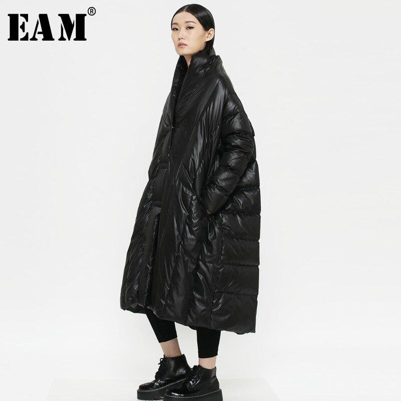 Épais Marée Mode De Ob074 Black eam Femmes Le Col Nouveau Printemps red Garder Au Lâche Brillant Chaud Bas Veste 2019 Pleine Vintage Manches Vers U1xqRBwHX1