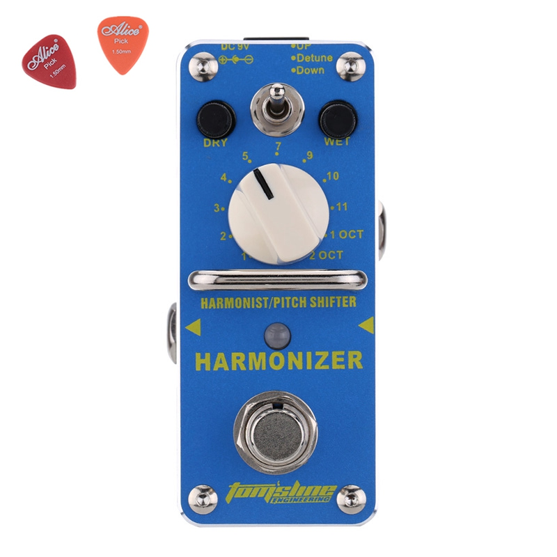 AHAR-3 Harmonizer Harmonist Pitch Shifter Electric Guitar Effect Pedal Aroma Mini Digital Pedals True Bypass Aluminium Alloy aov 3 ocean verb digital reverb electric guitar effect pedal aroma mini digital pedals with true bypass guitar parts